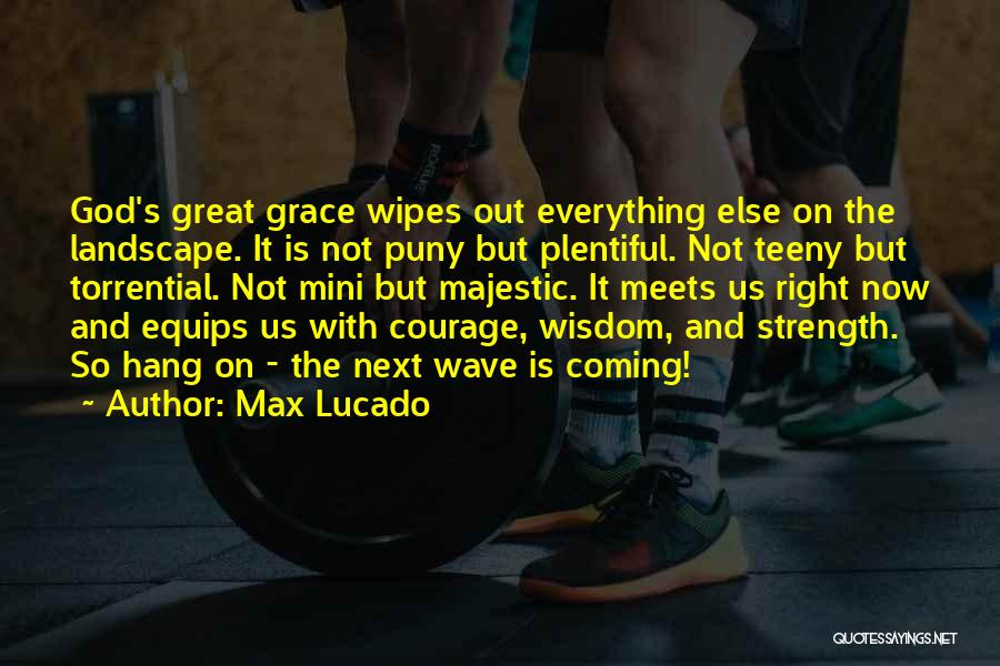 Wisdom Strength And Courage Quotes By Max Lucado