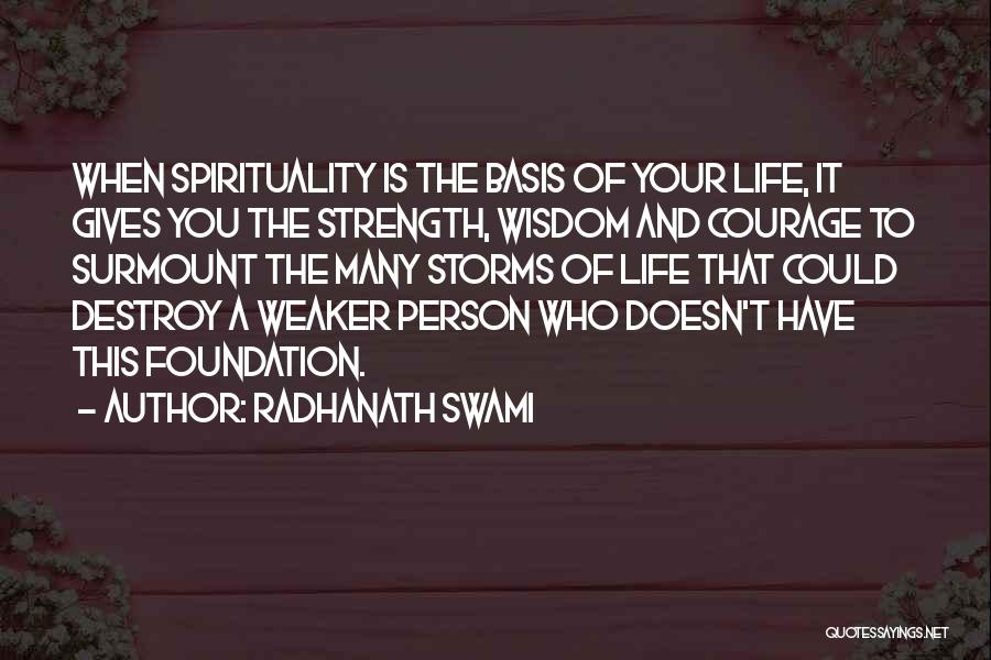 Wisdom Strength And Courage Quotes By Radhanath Swami