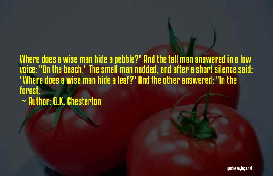 Wise Man Short Quotes By G.K. Chesterton