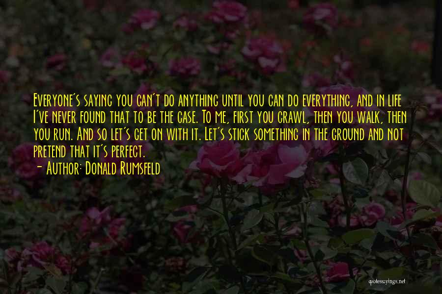 Wish Everything Was Perfect Quotes By Donald Rumsfeld