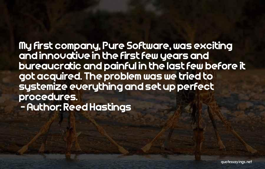 Wish Everything Was Perfect Quotes By Reed Hastings