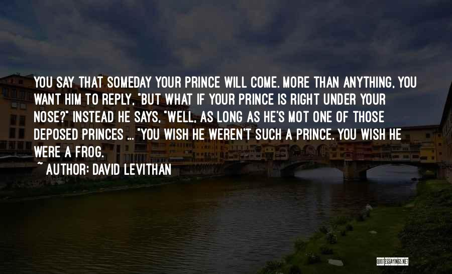 Wish You Well Quotes By David Levithan