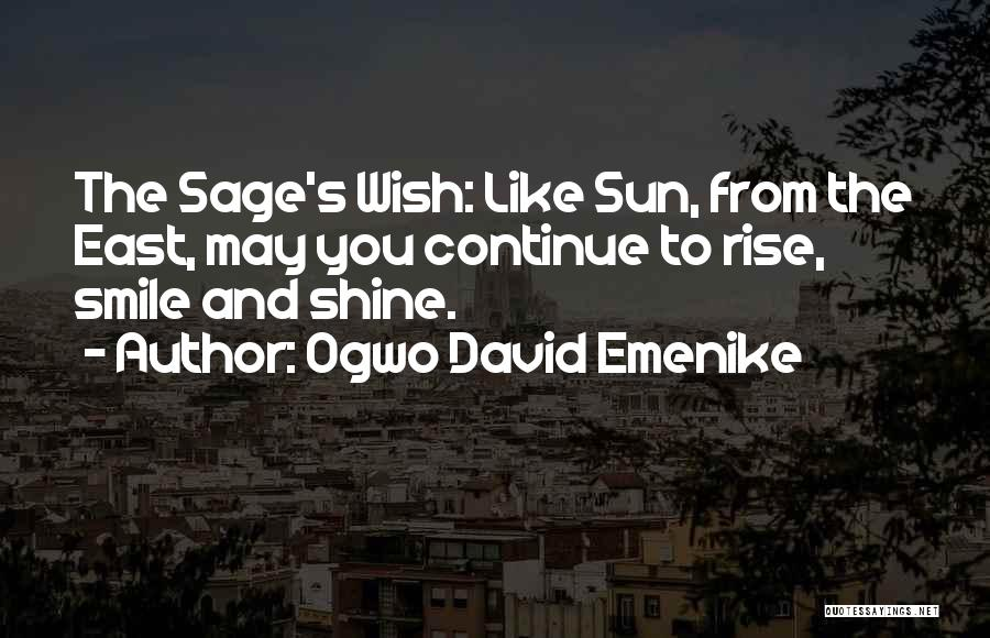 Wish You Well Quotes By Ogwo David Emenike