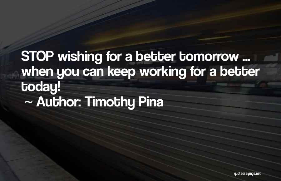 Wishing Things Were Better Quotes By Timothy Pina
