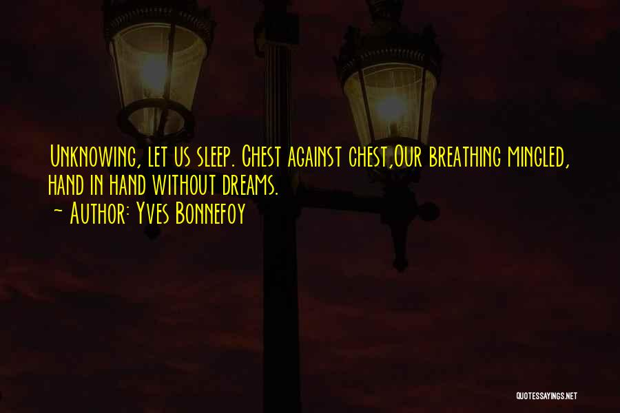 Without Sleep Quotes By Yves Bonnefoy