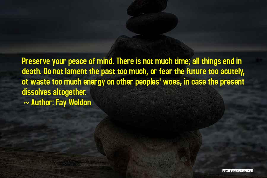 Woes Quotes By Fay Weldon