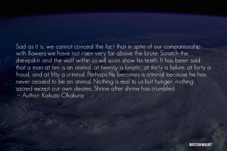 Wolf In Sheepskin Quotes By Kakuzo Okakura
