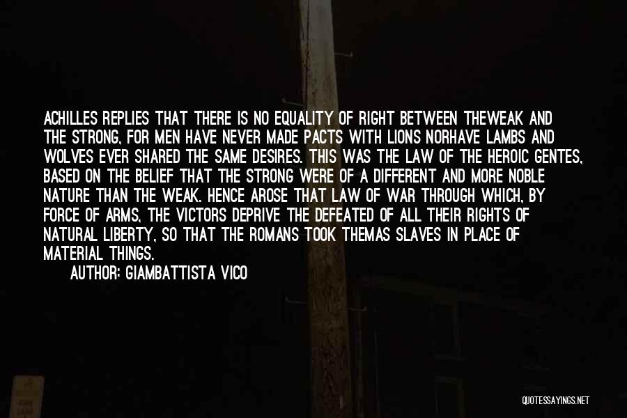 Wolves And Lions Quotes By Giambattista Vico