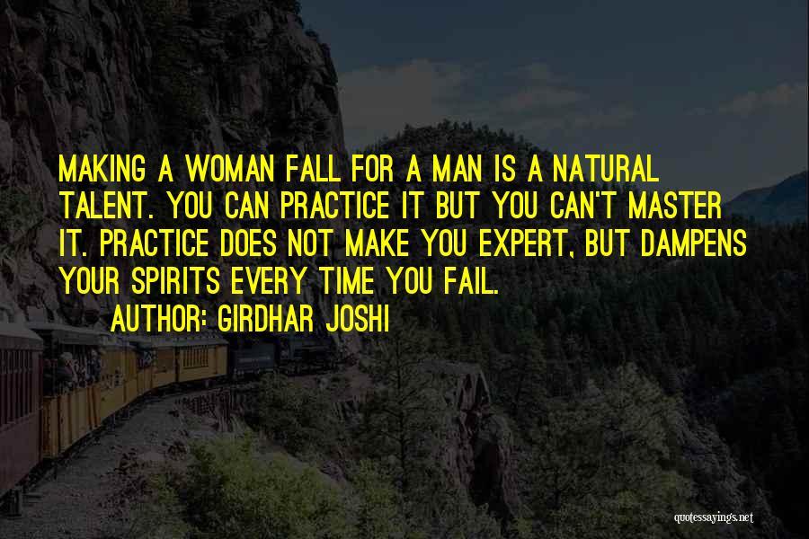 Woman Love Man Quotes By Girdhar Joshi