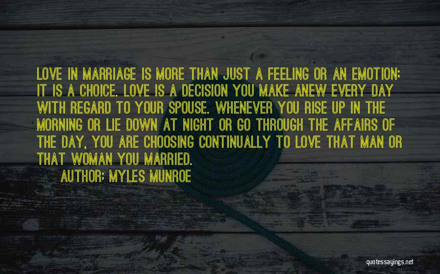 Woman Love Man Quotes By Myles Munroe
