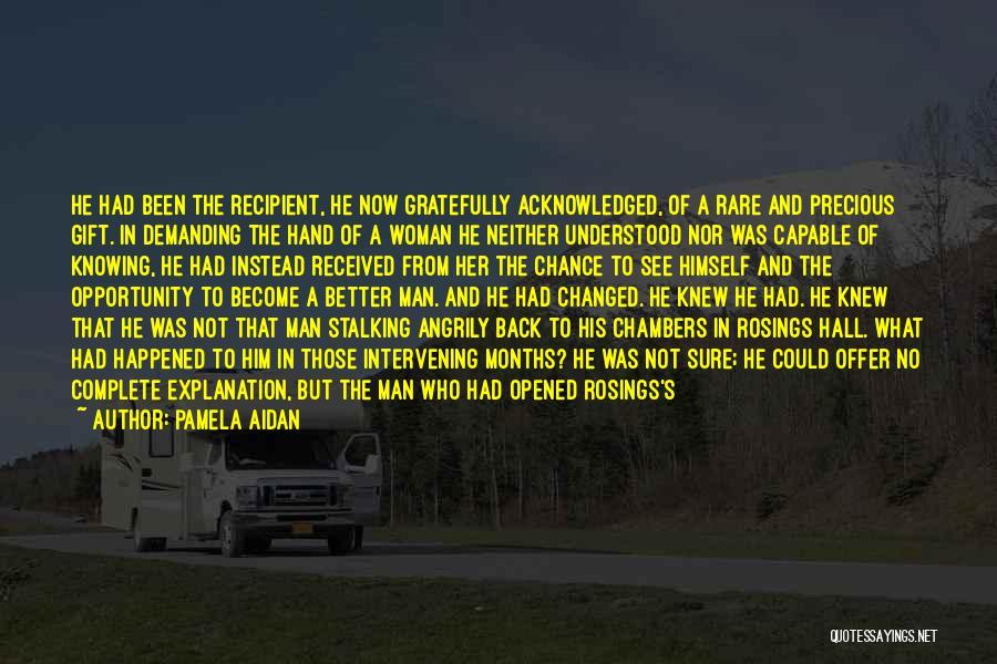 Woman Love Man Quotes By Pamela Aidan