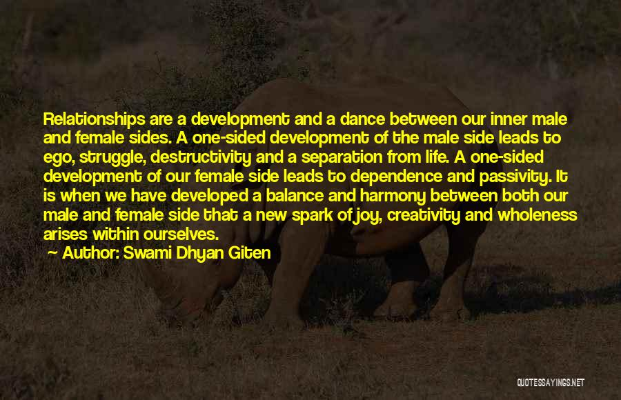 Woman Love Man Quotes By Swami Dhyan Giten