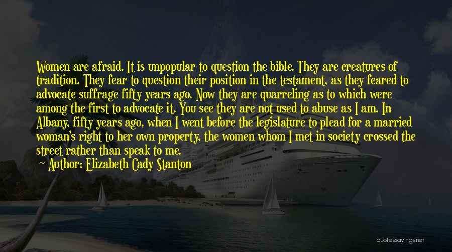 Woman Suffrage Quotes By Elizabeth Cady Stanton