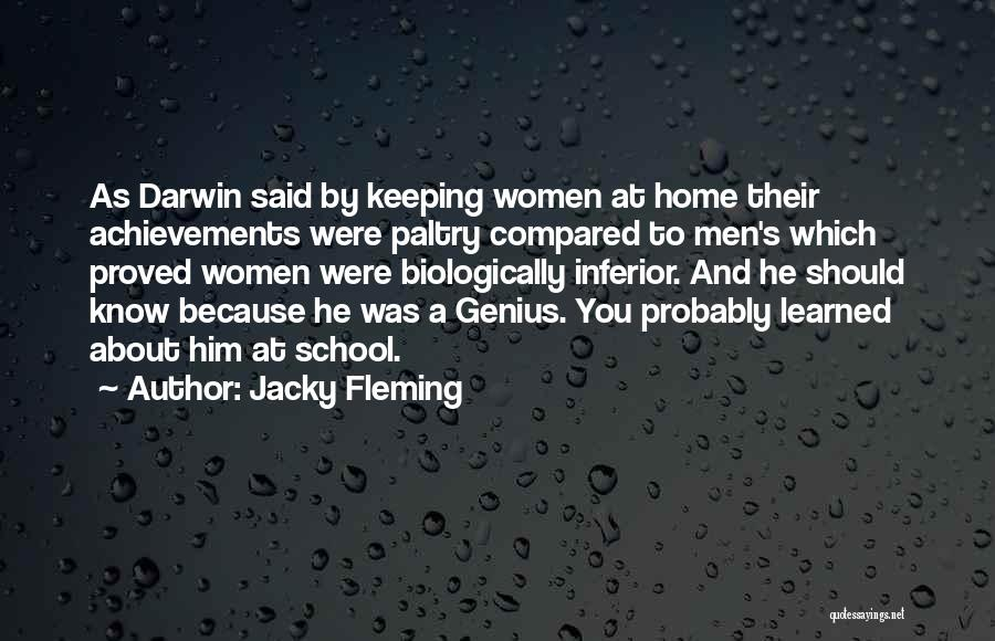 Women's Achievements Quotes By Jacky Fleming