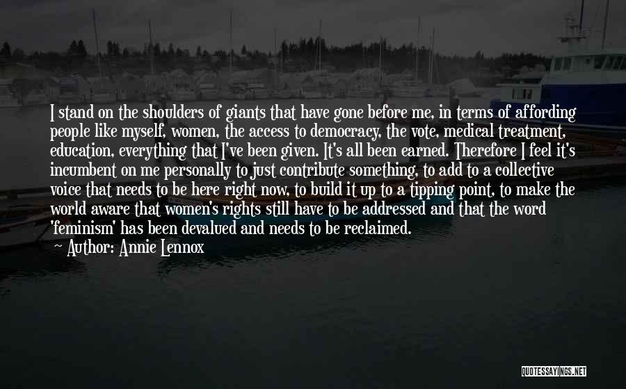 Women's Rights To Education Quotes By Annie Lennox