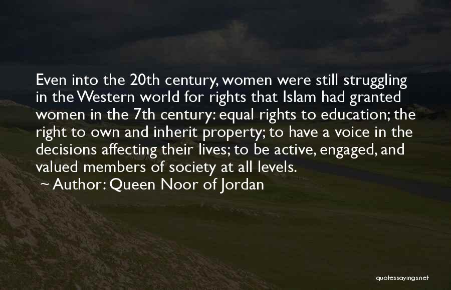 Women's Rights To Education Quotes By Queen Noor Of Jordan