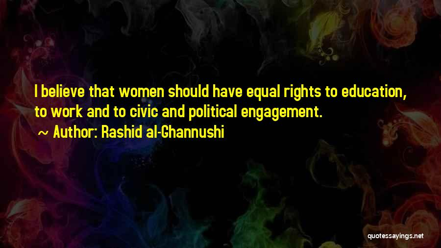 Women's Rights To Education Quotes By Rashid Al-Ghannushi