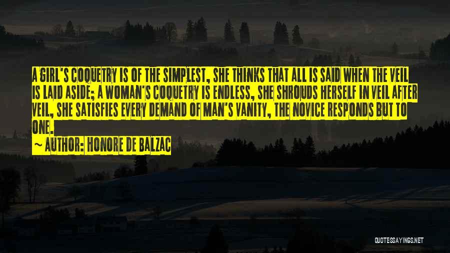 Women's Vanity Quotes By Honore De Balzac