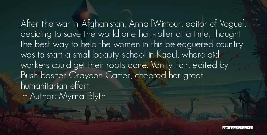 Women's Vanity Quotes By Myrna Blyth