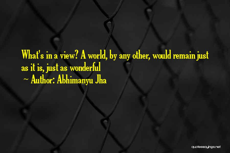 Wonderful View Quotes By Abhimanyu Jha