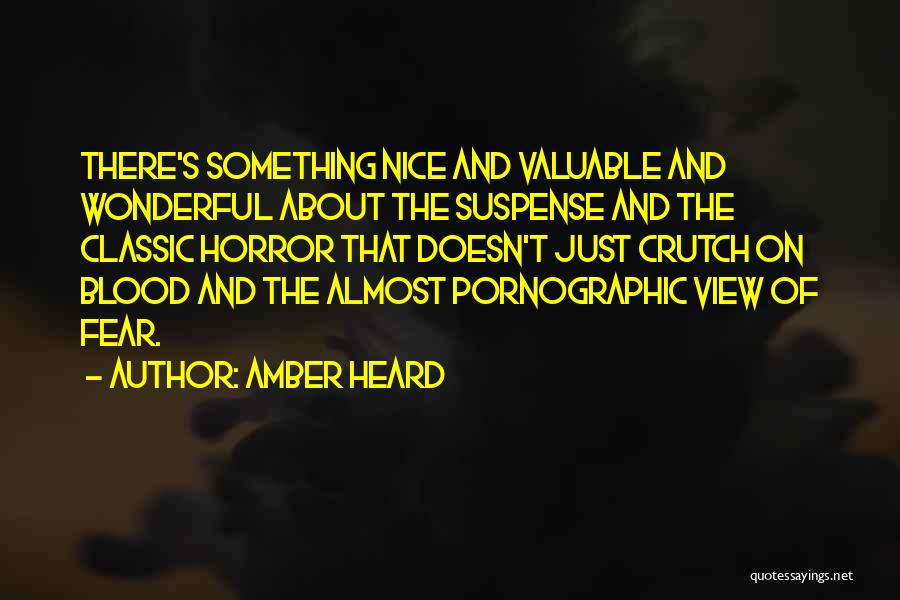 Wonderful View Quotes By Amber Heard