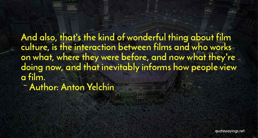 Wonderful View Quotes By Anton Yelchin