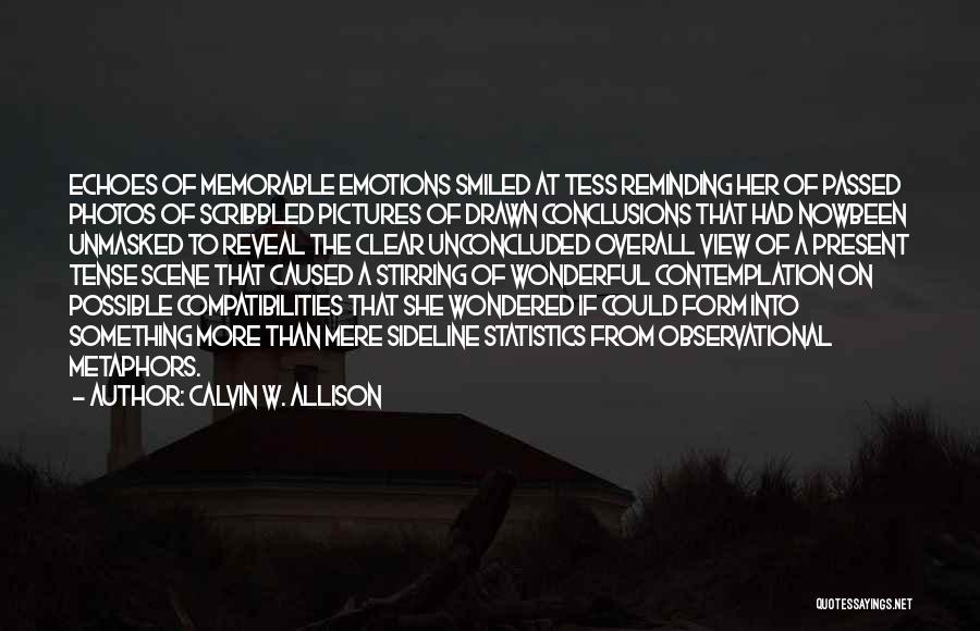 Wonderful View Quotes By Calvin W. Allison