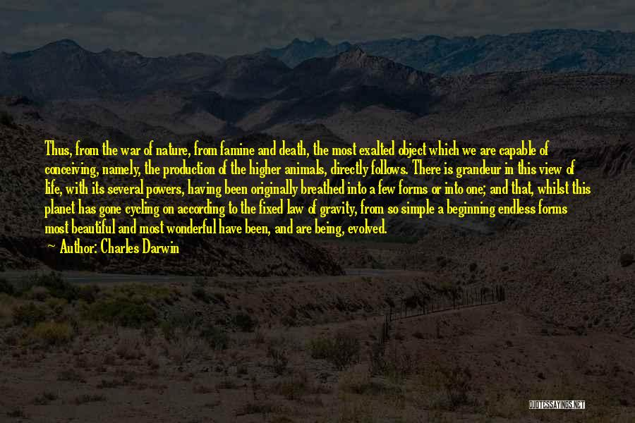 Wonderful View Quotes By Charles Darwin