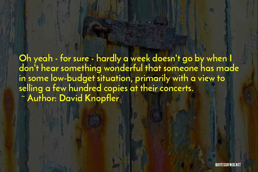 Wonderful View Quotes By David Knopfler