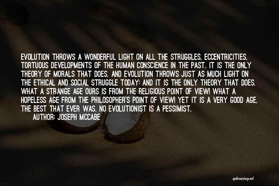 Wonderful View Quotes By Joseph McCabe