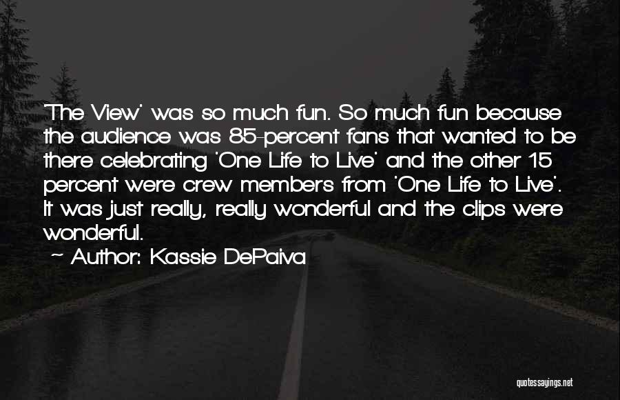 Wonderful View Quotes By Kassie DePaiva