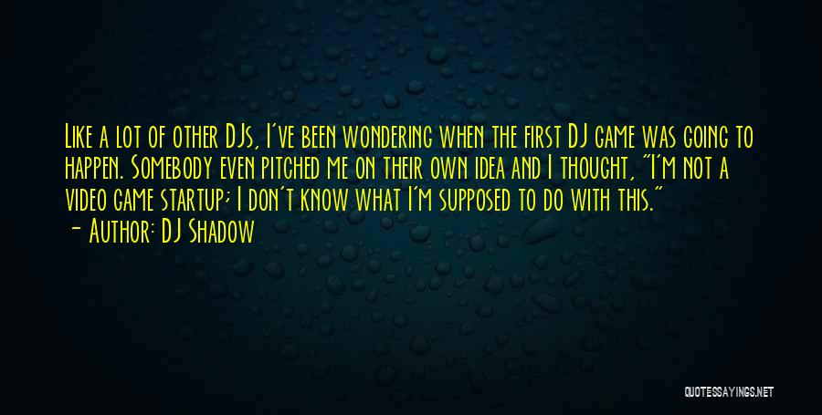 Wondering What To Do Quotes By DJ Shadow