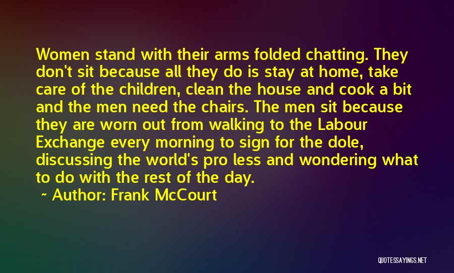 Wondering What To Do Quotes By Frank McCourt