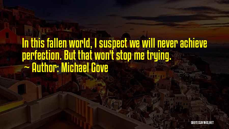Won't Stop Trying Quotes By Michael Gove