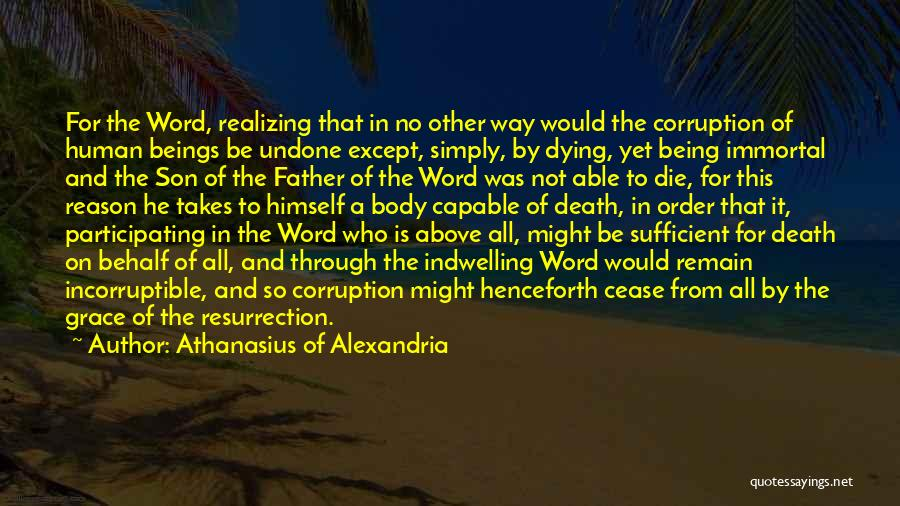Word In Quotes By Athanasius Of Alexandria