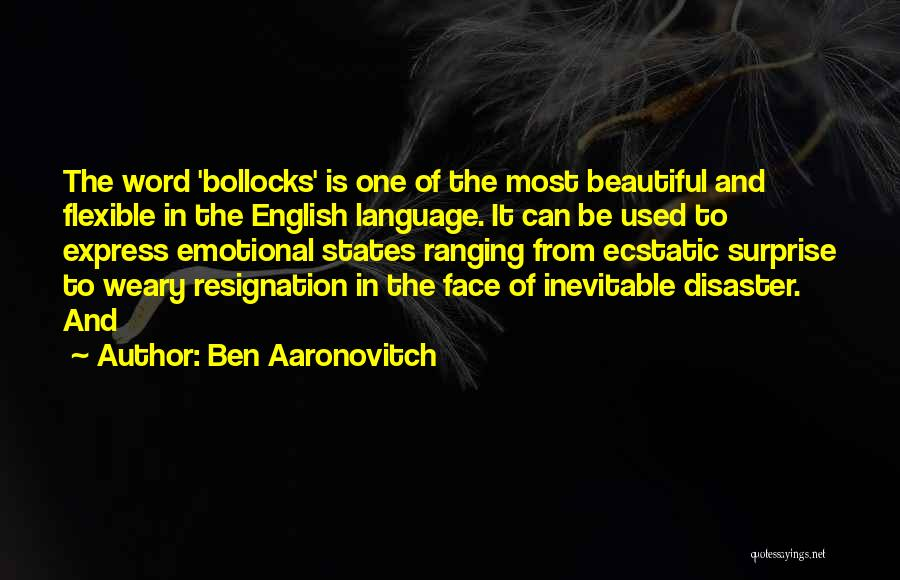 Word In Quotes By Ben Aaronovitch
