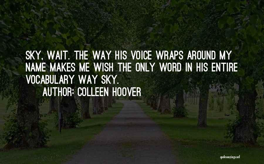 Word In Quotes By Colleen Hoover
