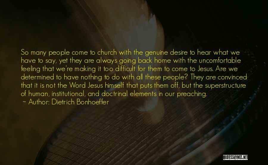 Word In Quotes By Dietrich Bonhoeffer