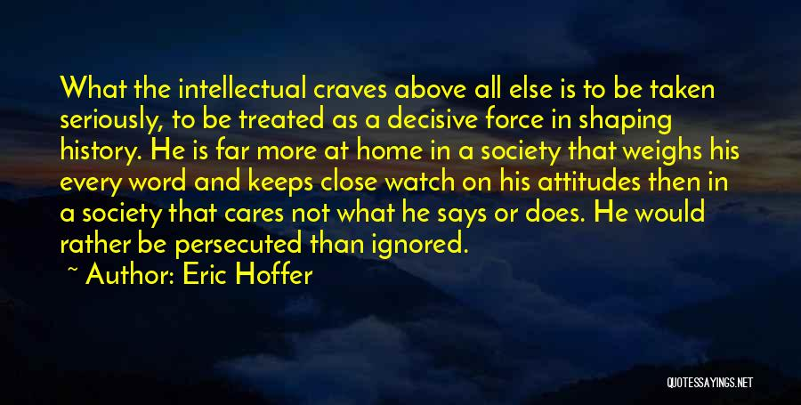 Word In Quotes By Eric Hoffer