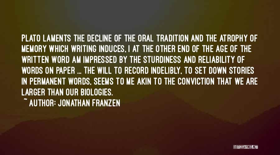 Word In Quotes By Jonathan Franzen