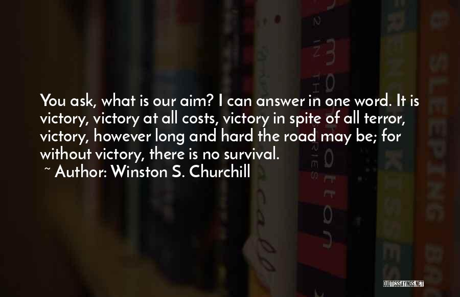 Word In Quotes By Winston S. Churchill