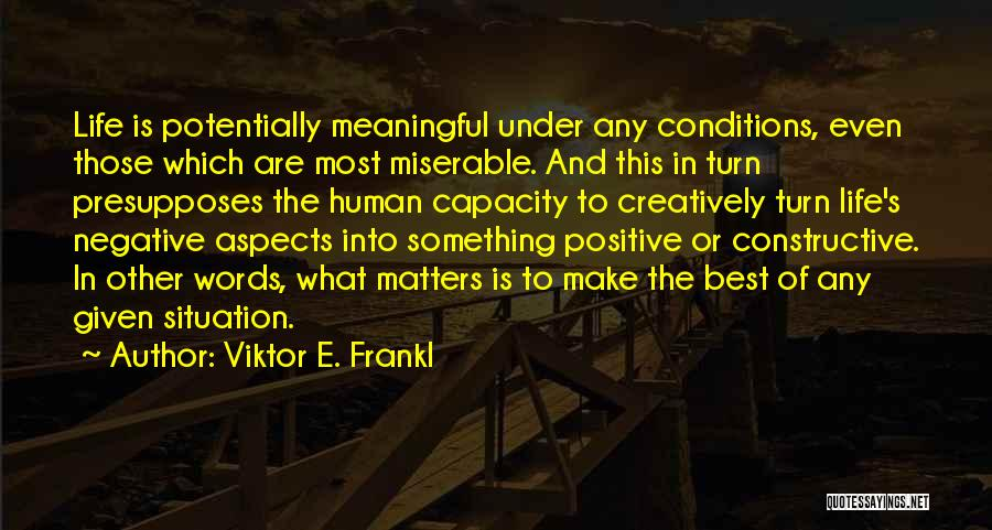 Words Are Meaningful Quotes By Viktor E. Frankl
