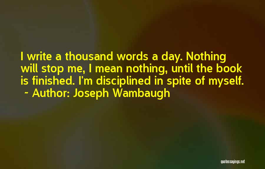 Words Mean Nothing Quotes By Joseph Wambaugh