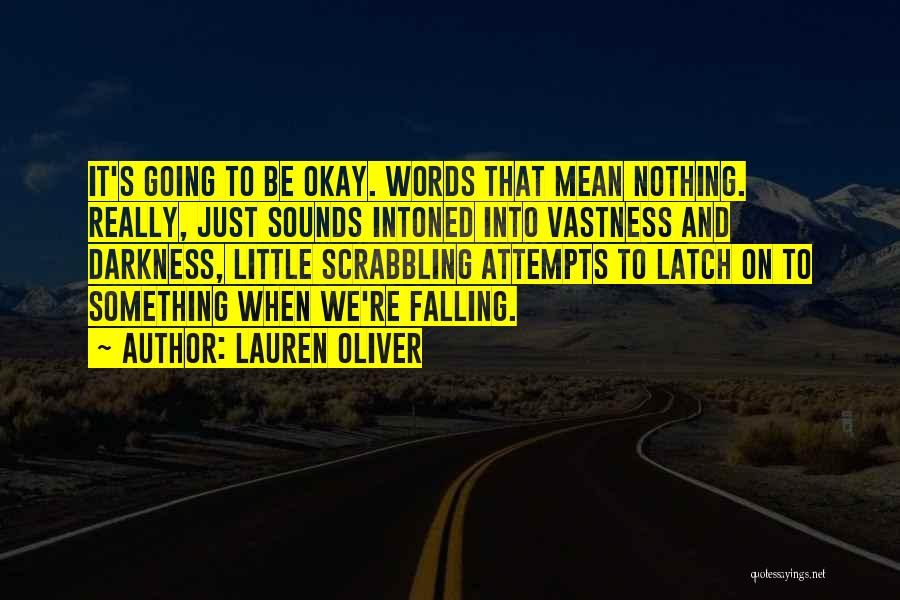 Words Mean Nothing Quotes By Lauren Oliver