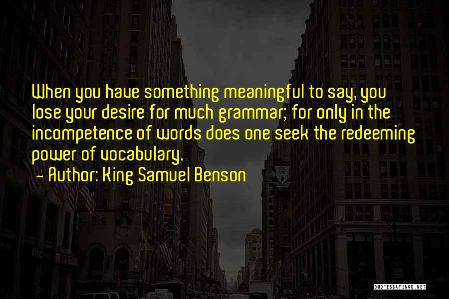 Words Of Advice Quotes By King Samuel Benson