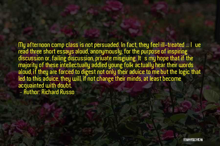 Words Of Advice Quotes By Richard Russo
