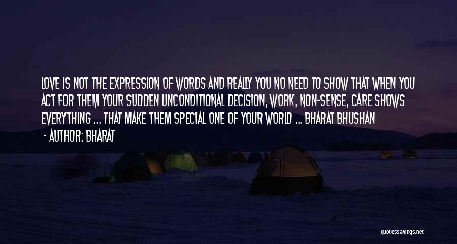 Words Of True Love Quotes By Bharat