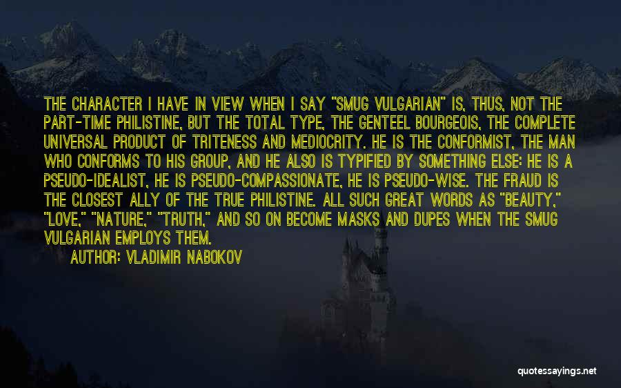 Words Of True Love Quotes By Vladimir Nabokov