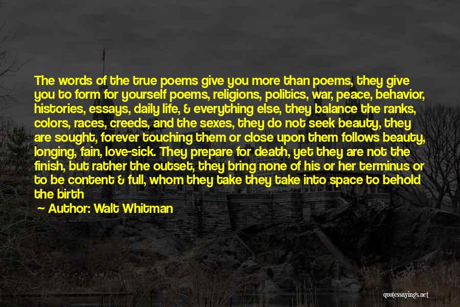 Words Of True Love Quotes By Walt Whitman
