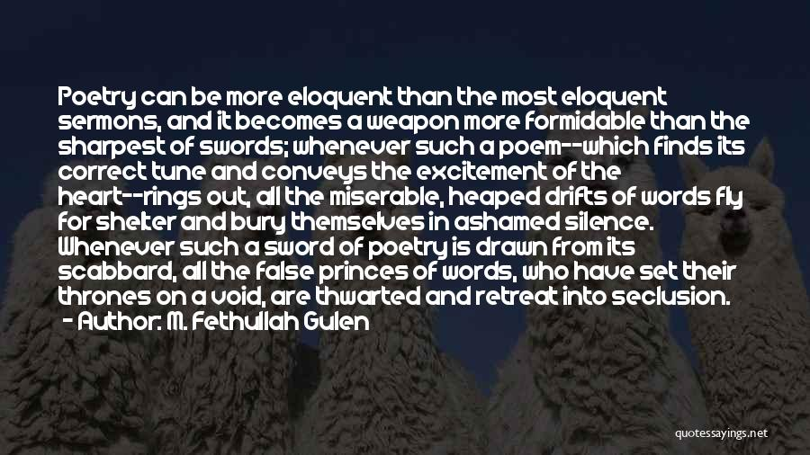 Words Weapon Quotes By M. Fethullah Gulen